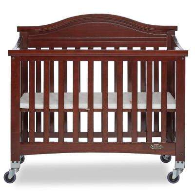 Venice Espresso Folding Portable Crib