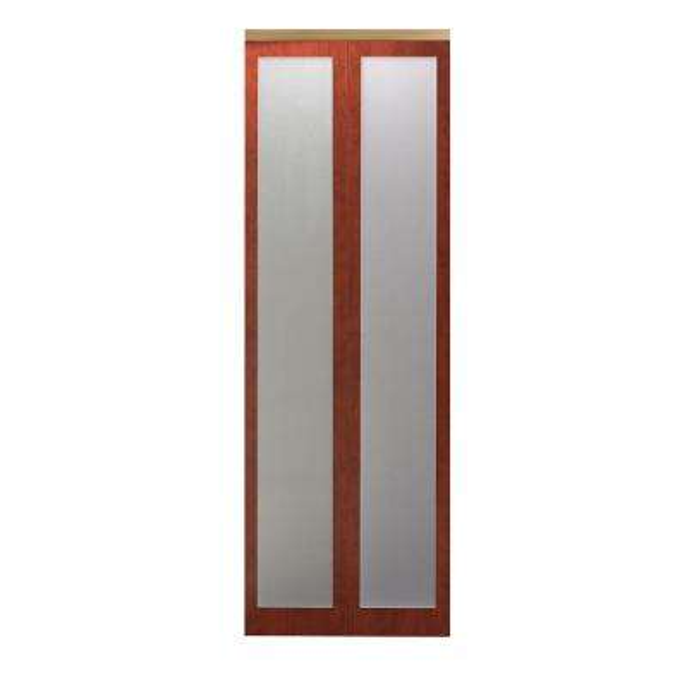 Mir Mel Cherry Mirror Gold Trim Solid MDF Interior Closet Bi Fold Door