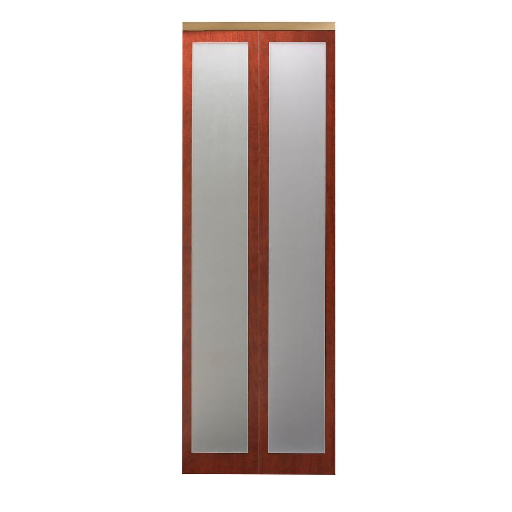 Impact plus 36 in x 80 in mir mel cherry mirror solid for Mirror 80 x 80
