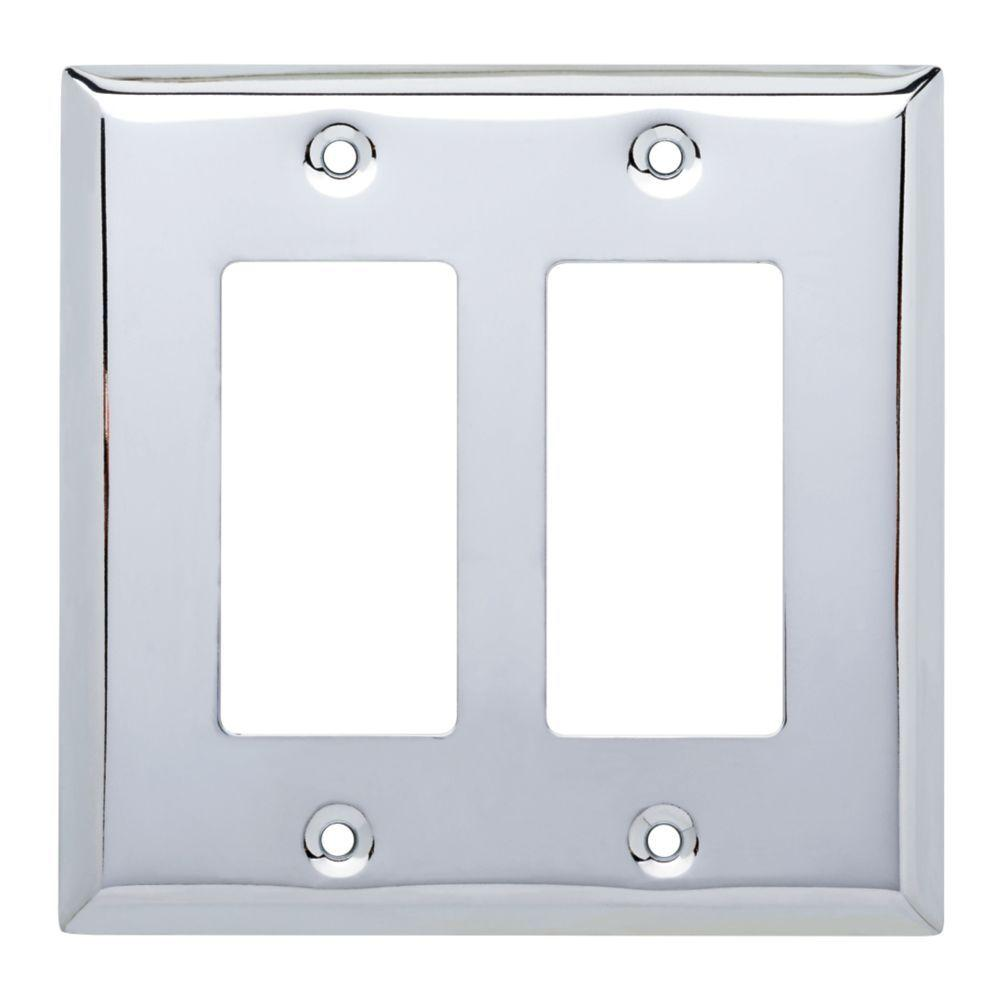 Hampton Bay Stamped Square Decorative Double Rocker Switch Plate ...