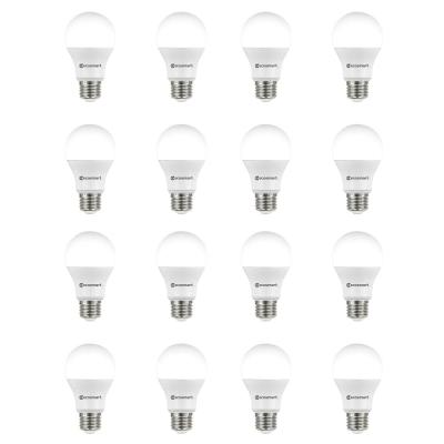 60-Watt Equivalent A19 Non-Dimmable LED Light Bulb Soft White (16-Pack)