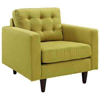 Solid Green Mid Century Modern Accent Chairs Chairs The