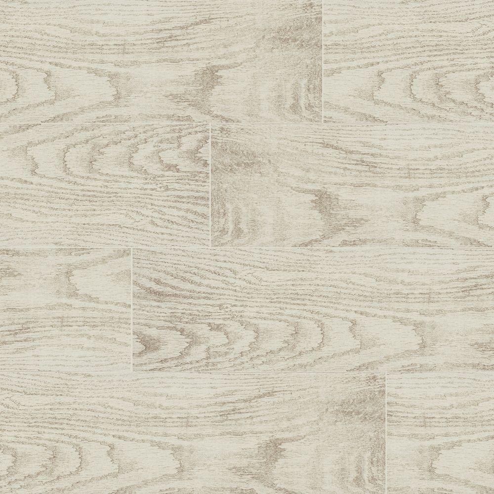 MARAZZI Montagna White Wash 6 in. x 24 in. Glazed Porcelain Floor ...