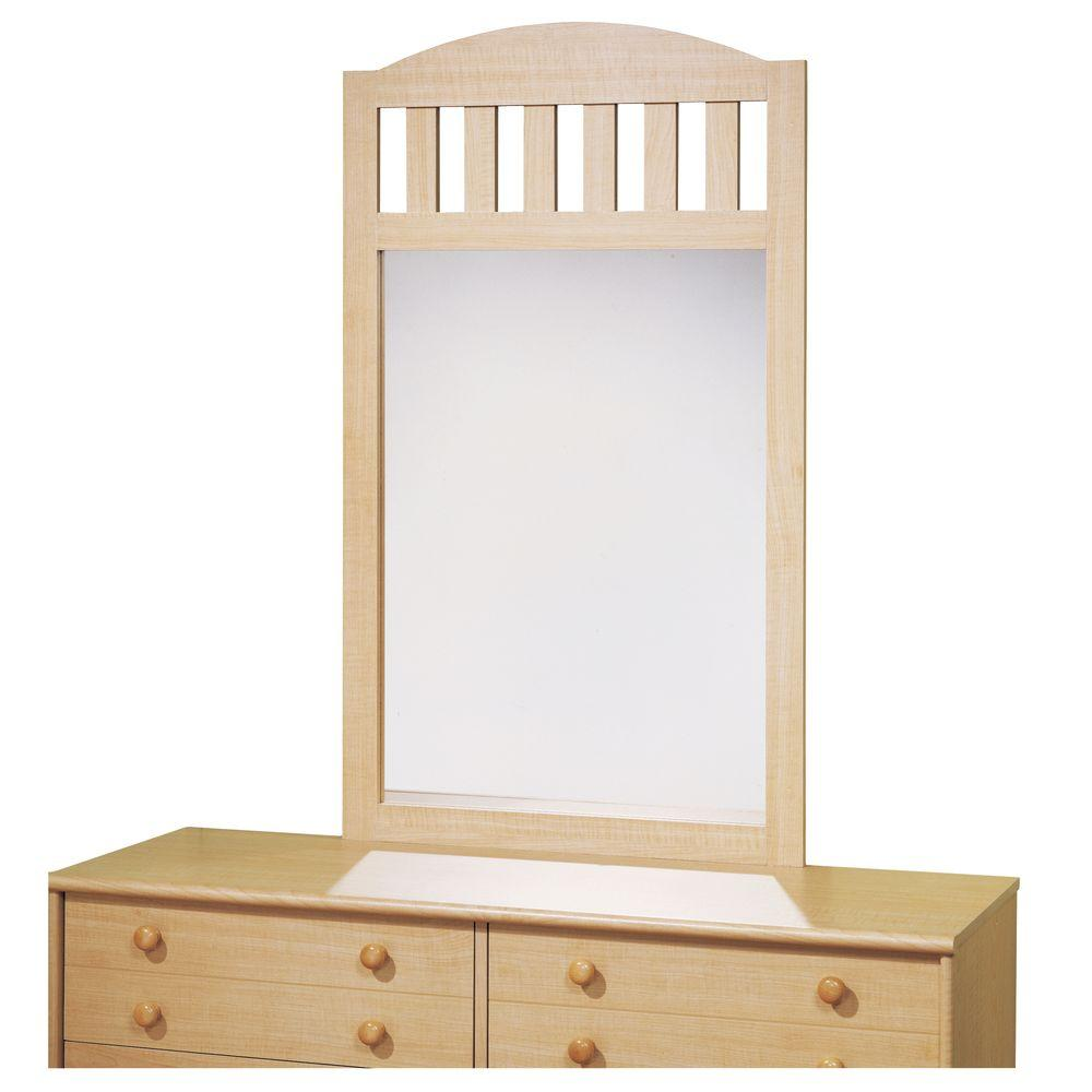 South Shore 46 in. x 27 in. Loft Natural Maple Framed Mirror