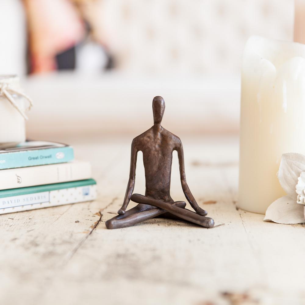 Yoga Lotus Bronze Sculpture