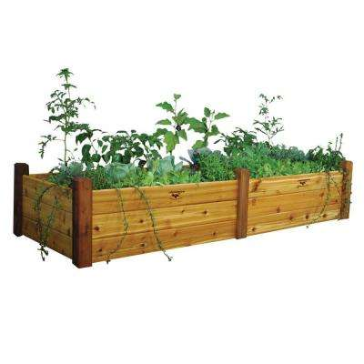 34 in. x 95 in. x 19 in. Safe Finish Raised Garden Bed