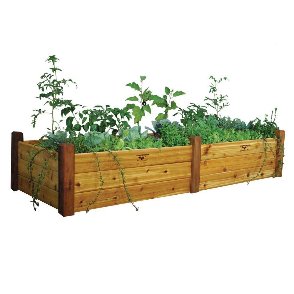 34 in. x 95 in. x 19 in. Safe Finish Raised Garden Bed