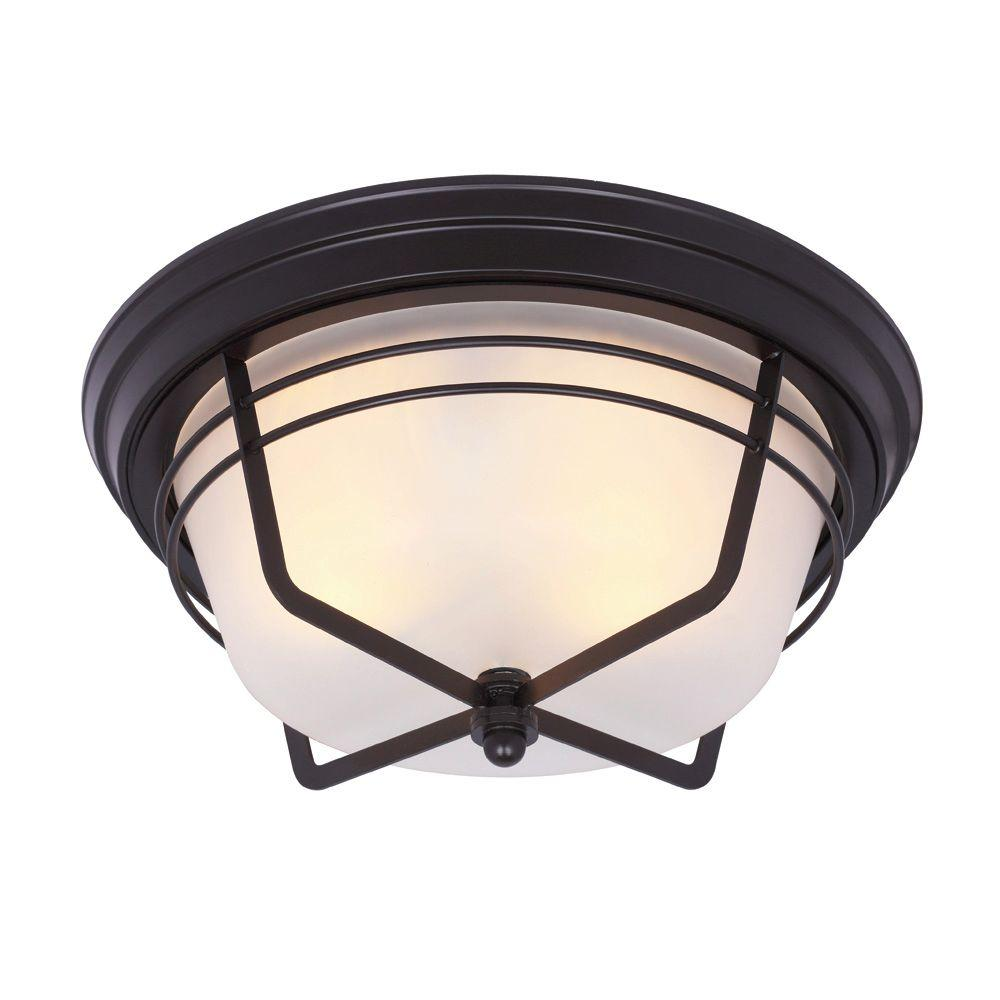 Westinghouse Bonneville Flush-Mount 2-Light Outdoor Weathered ...