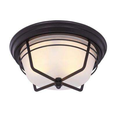 Bonneville Flush-Mount 2-Light Outdoor Weathered Bronze Fixture