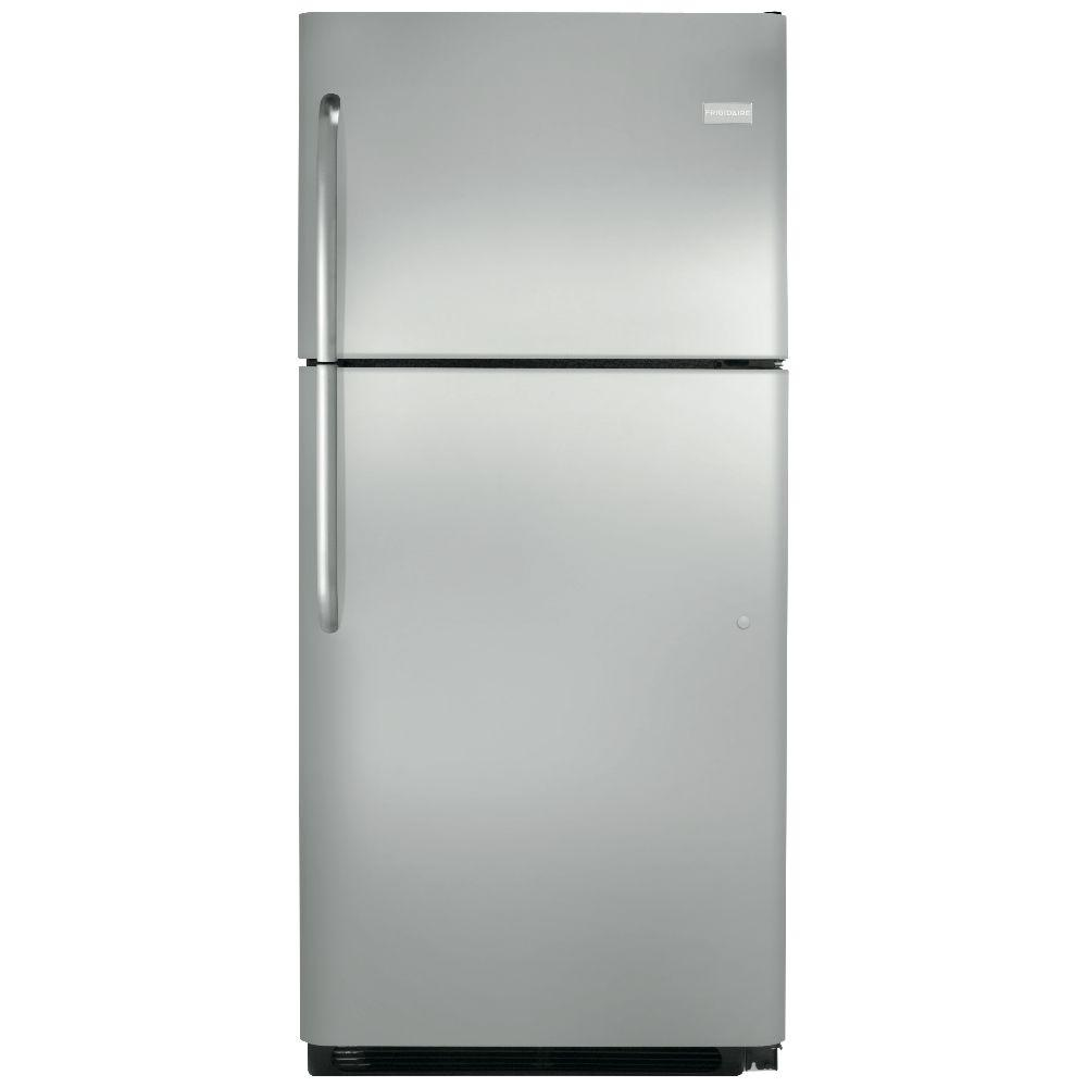 frigidaire 20 cu ft top freezer refrigerator in. Black Bedroom Furniture Sets. Home Design Ideas