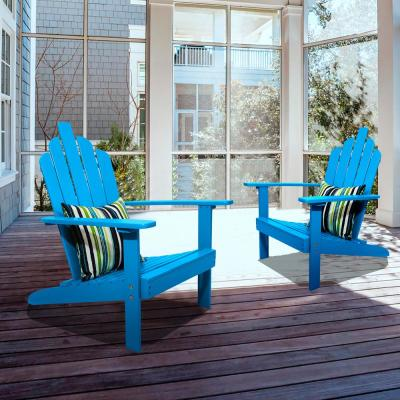 Marley Turquoise Wood Adirondack Outdoor Patio Chair (2-Pack)