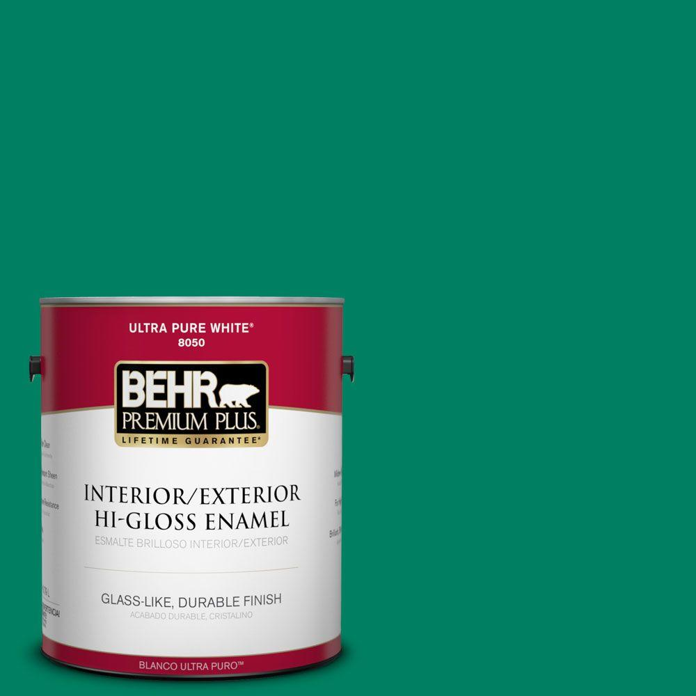 1-gal. #480B-6 Treasure Isle Hi-Gloss Enamel Interior/Exterior Paint