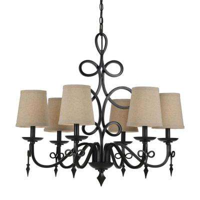 8600 6-Light Bronze Chandelier