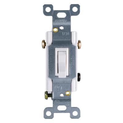15 Amp 120-Volt 3-Way Household Toggle Switch - White
