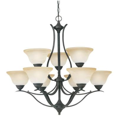 Prestige 9-Light Sable Bronze Chandelier