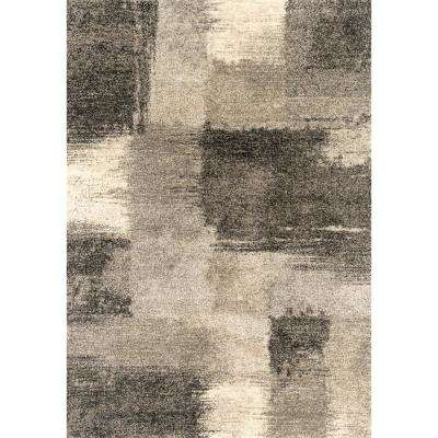 Serenity Aura Grey 2 ft. 7 in. x 4 ft. 2 in. Accent Rug