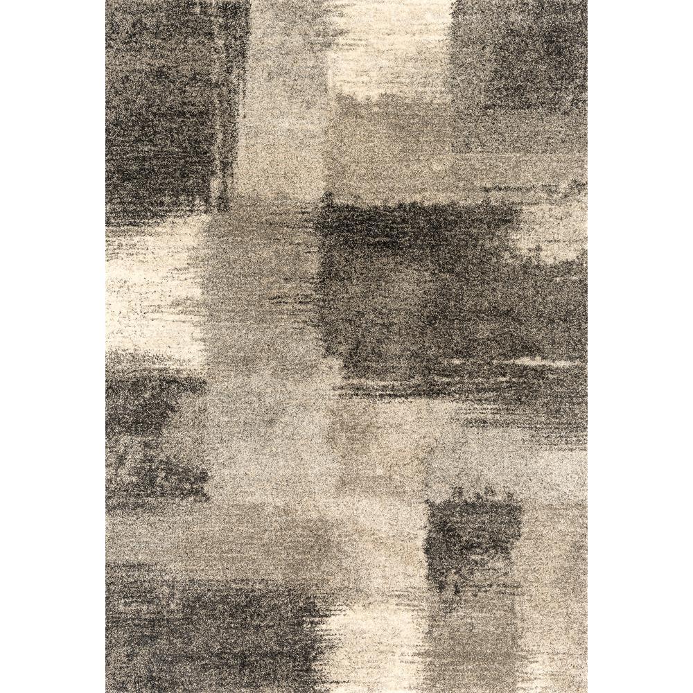 Serenity Aura Grey 5 ft. 3 in. x 7 ft. 2 in. Area Rug