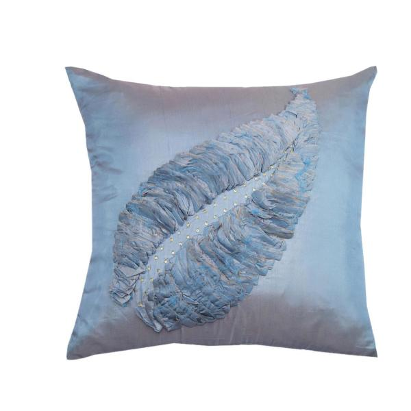 A1HC Leaf Motif Pillow 100% Polyester 18 in. x 18 in.