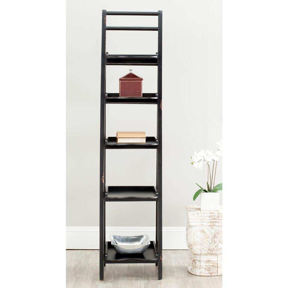 Safavieh Asher Black Ladder Bookcase