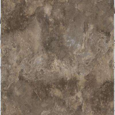 Chestnut Blended Slate 18 in. x 18 in. Peel and Stick Vinyl Tile (27 sq. ft. / case)