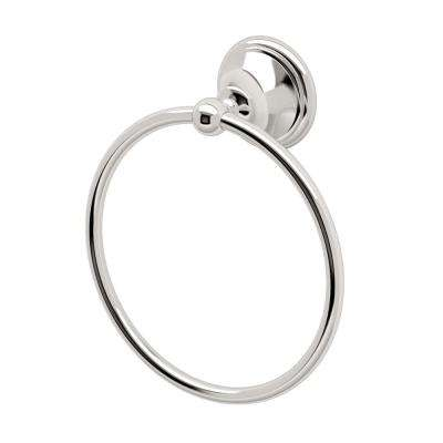 Laurel Ave Towel Ring in Polished Nickel