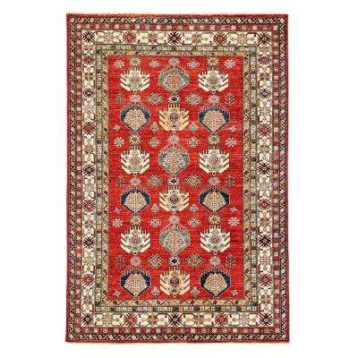 Kazak Red 6 ft. x 8 ft. Indoor Area Rug