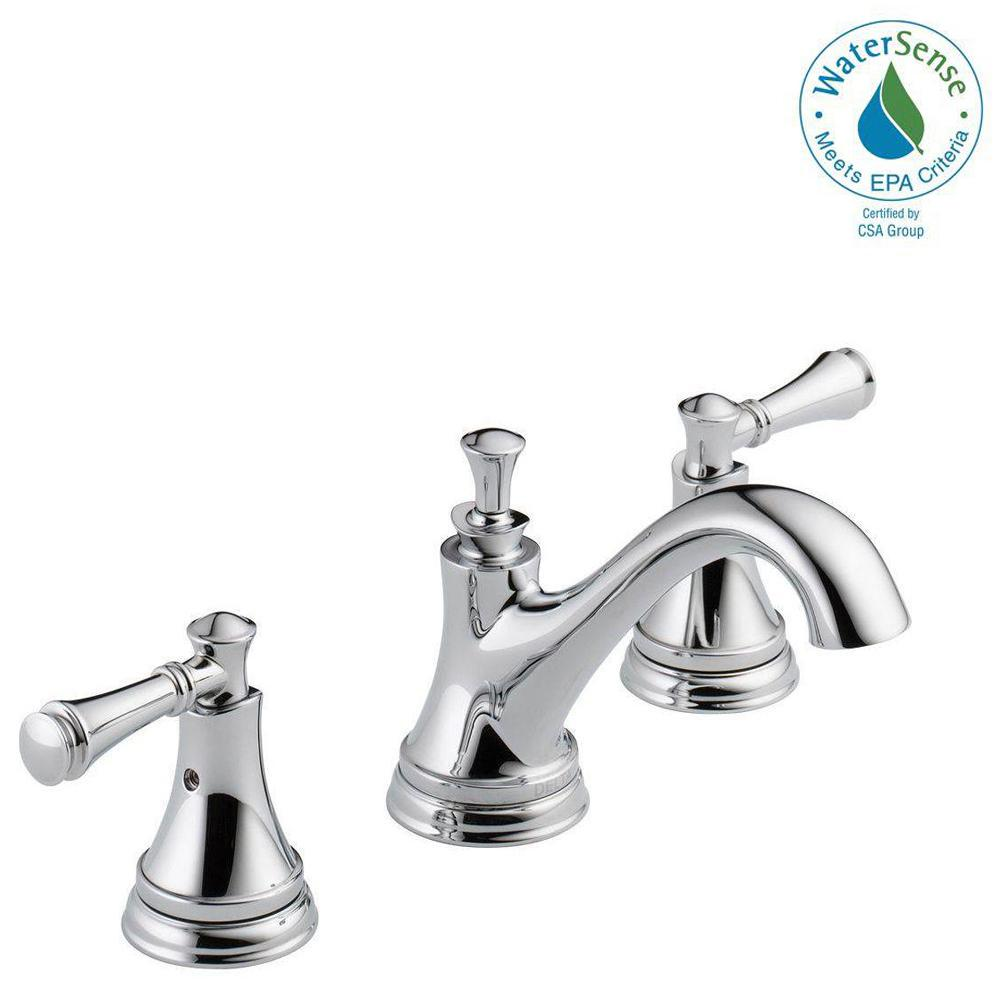 Delta silverton in widespread handle bathroom faucet
