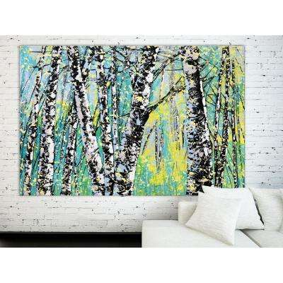 "48 in. x 72 in. ""Treescape 12416"" by Carole Malcolm Printed Framed Canvas Wall Art"