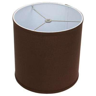10 in. Top Diameter x 10 in. H x 10 in. Bottom Diameter Linen Coffee Drum Lamp Shade