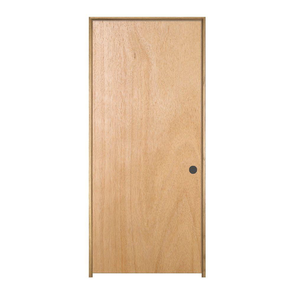 Jeld wen 36 in x 80 in unfinished right hand flush for Solid core flush door price