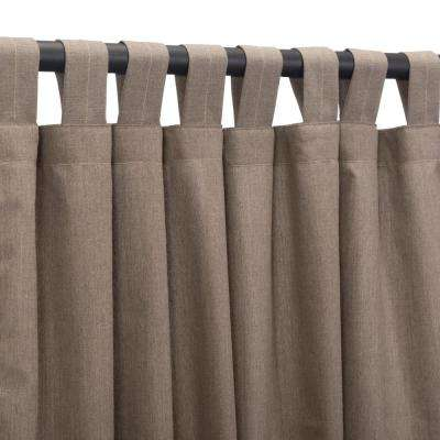 50 in. x 108 in. Outdoor Single Curtain with Tabs in Shale