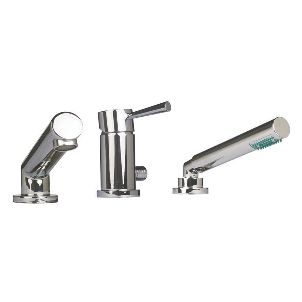 Design House Cosmo 1-Handle Deck-Mount Roman Tub Faucet with Pull-Out Sprayer in Polished Chrome -- DISCONTINUED