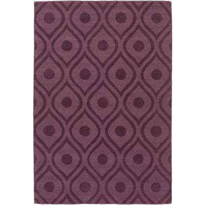 Central Park Zara Eggplant 8 ft. x 10 ft. Indoor Area Rug
