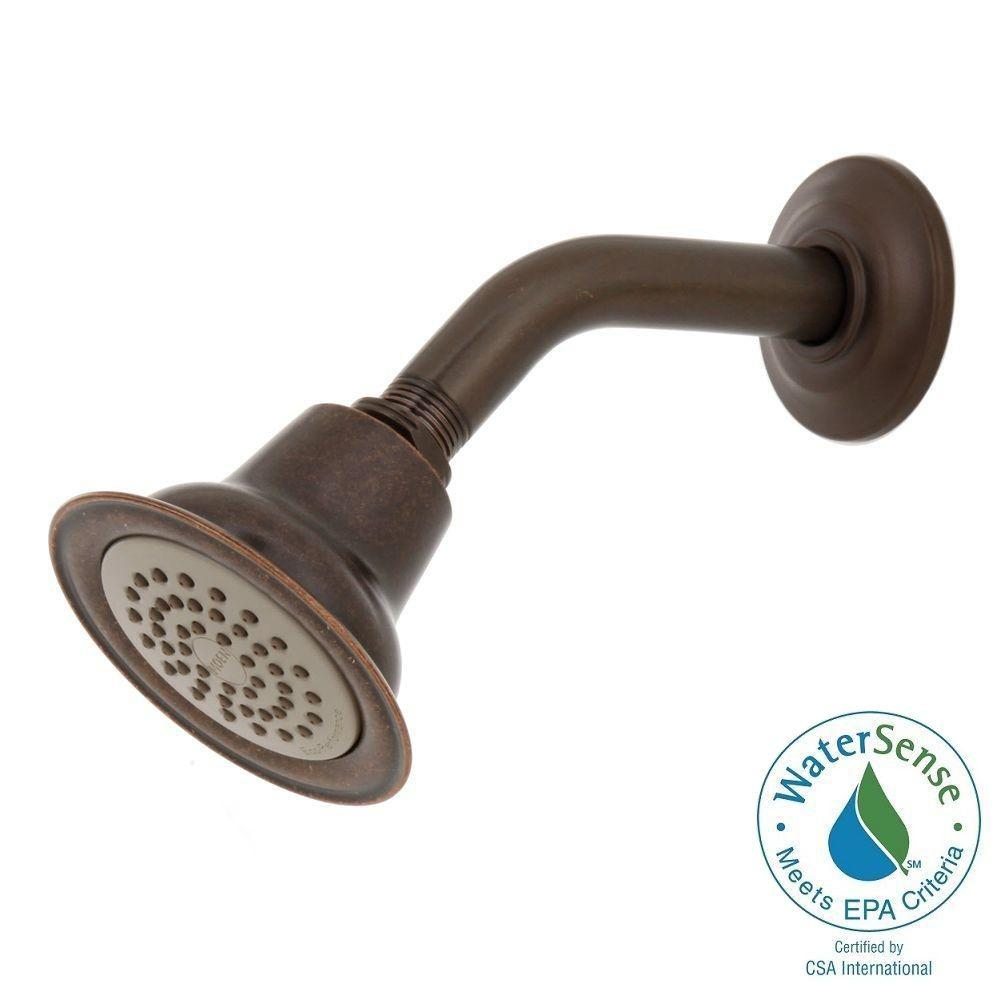 MOEN Eco-Performance 1-Spray 3-3/8 in. Showerhead with Shower Arm and Flange in Oil Rubbed Bronze