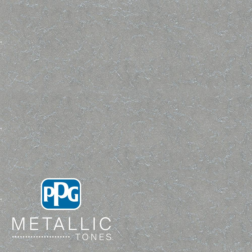 PPGMETALLICTONES PPG METALLIC TONES 1 gal. #MTL106 Rejoice Metallic Interior Specialty Finish Paint, Grey