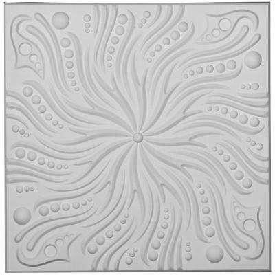 Swirl 2 ft. x 2 ft. Glue-up Ceiling Tile