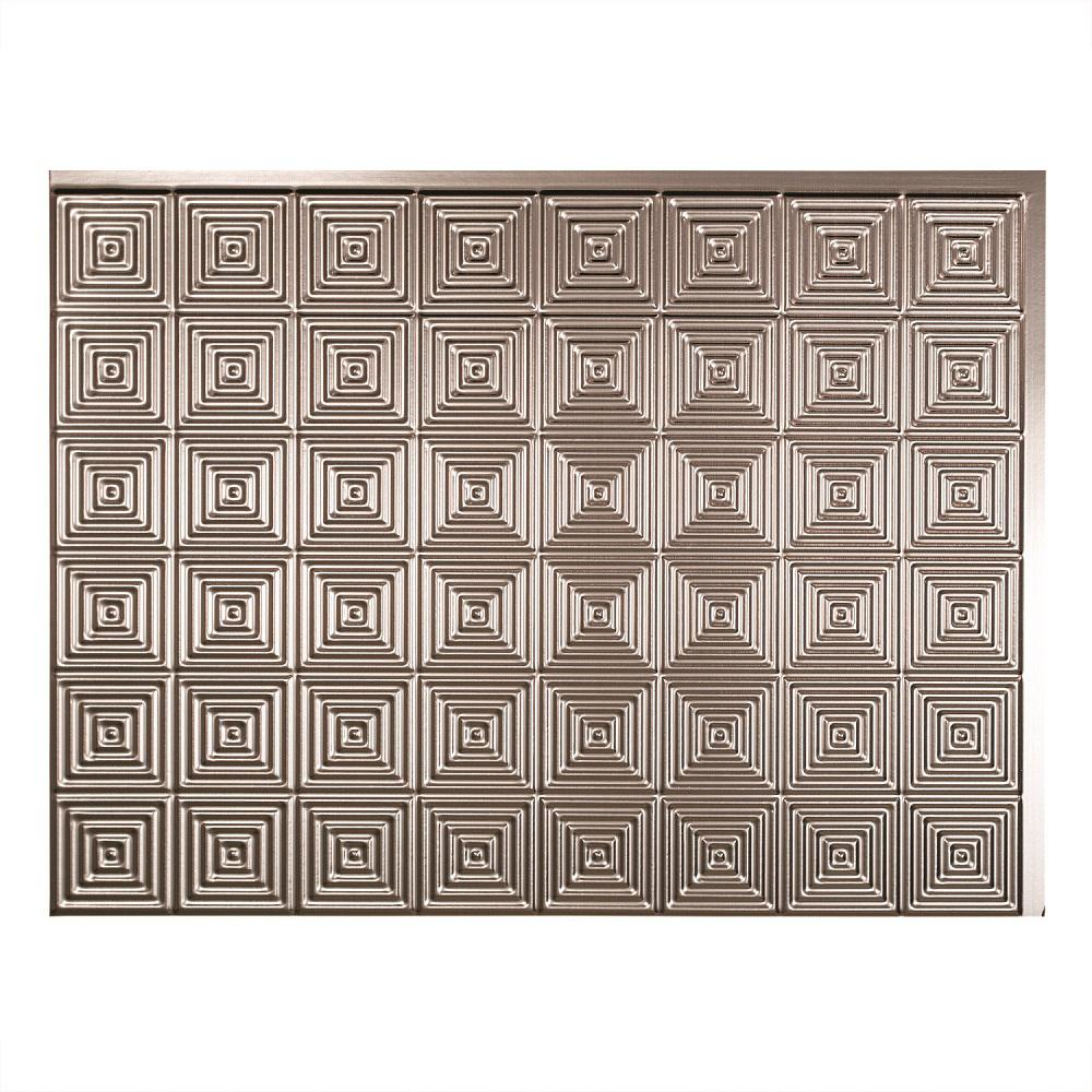 24 in. x 18 in. Miniquattro PVC Decorative Backsplash Panel in