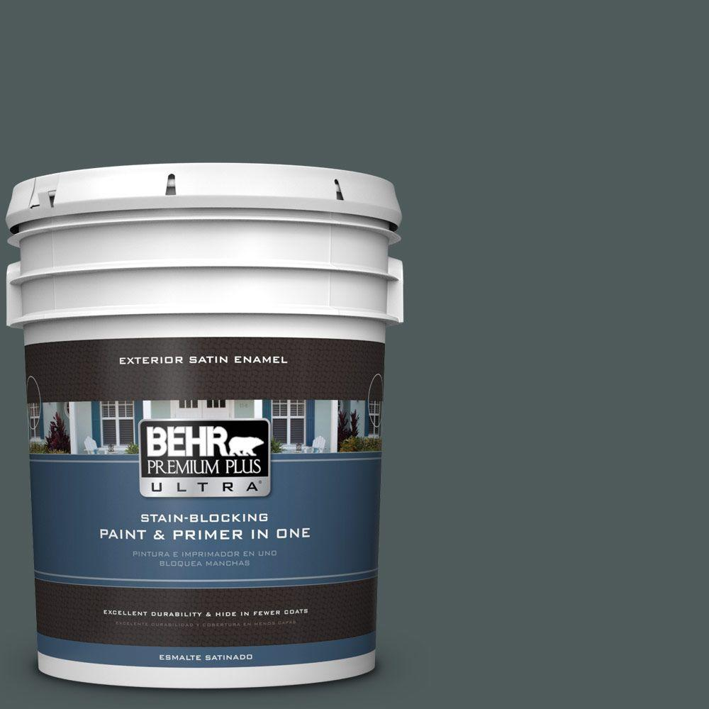 BEHR Premium Plus Ultra 5-gal. #N440-7 Midnight in NY Satin Enamel Exterior Paint