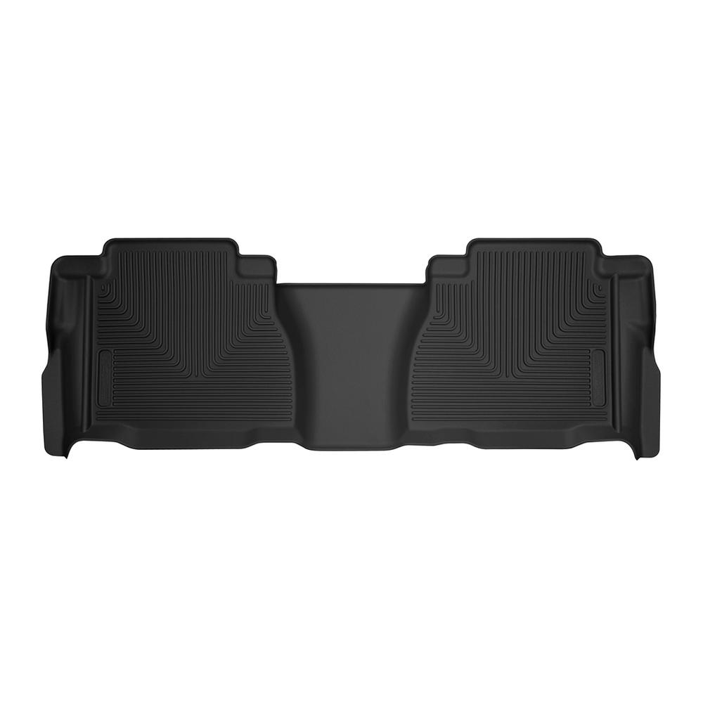 WeatherTech Custom Fit Front FloorLiner for Toyota Tundra Double Cab Grey