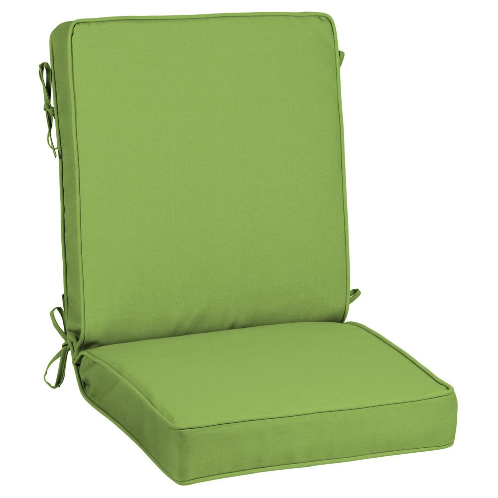 Home Decorators Collection 21 X 20 Sunbrella Canvas Gingko Outdoor Dining Chair Cushion