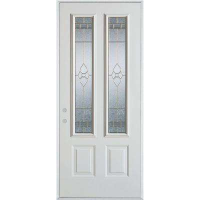 32 in. x 80 in. Traditional Brass 2 Lite 2-Panel Painted White  sc 1 st  The Home Depot & Stanley Doors - Front Doors - Exterior Doors - The Home Depot pezcame.com