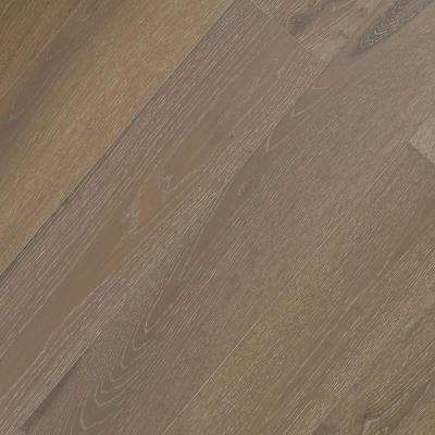 Wire Brushed Oyster Oak 3/8 in. Tx 7.5 in. Wx Varying L Click Lock Exotic Engineered Hardwood Flooring(30.92 sq.ft/case)