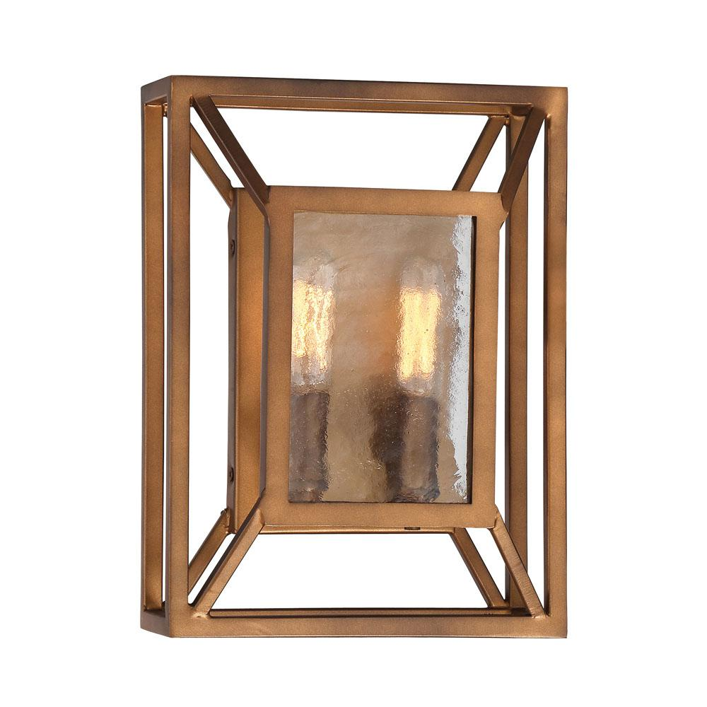 Athina 2-Light Gilded Bronze Wall Sconce