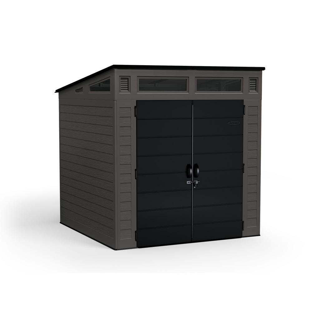 Suncast Modernist 7 ft. 2.5 in. x 7 ft. 3.5 in. x 7 ft. 5.5 in. Resin Storage Shed