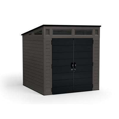 Modernist 7 ft. 2.5 in. x 7 ft. 3.5 in. x 7 ft. 5.5 in. Resin Storage Shed