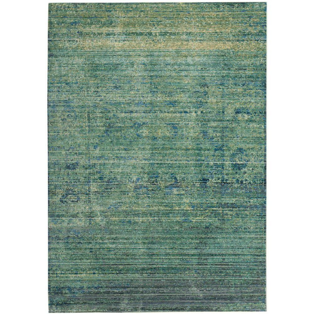 Mystique Green/Multi 4 ft. x 6 ft. Area Rug