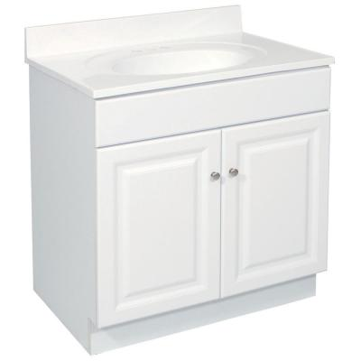 Wyndham 30 in. W x 21 in. D Unassembled Bath Vanity Cabinet Only in White Semi-Gloss