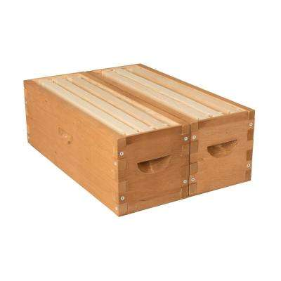 19.88 in. x 13.78 in. x 6.89 in. 6 Frame Backyard Bee Hive Twin Supers