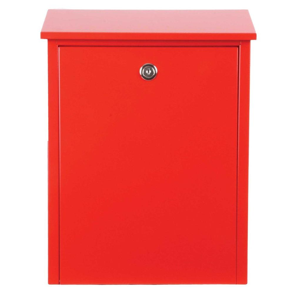 Qualarc Red Wall Mount Locking Mailbox Alx 200 Rd The Home Depot