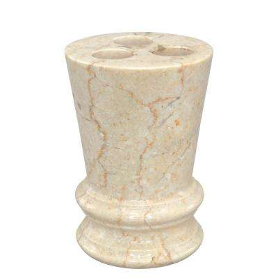Francesca Toothbrush Holder in Champagne Marble